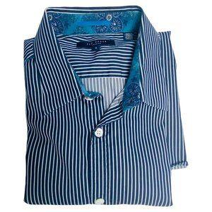 Ted Baker London Men Sm 3 Blue Strip Long Sleeve B